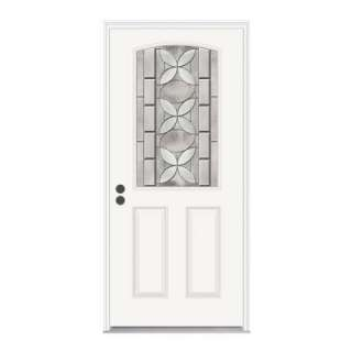 JELD WEN Aspirations 36 in. x 80 in. White Prehung Right Hand Camber 1