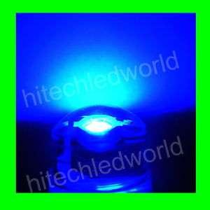 10p High Power 1W 8mm Blue LED Lamp Light Bulb 25lm F/S