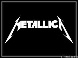 Metallica Logo Heavy Metal Decal Vinyl Sticker (2x)