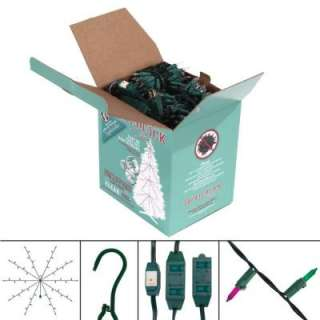Whole Tree Kit with 750 Multi Color Lights and 9 ft. , 9 Outlet Cord