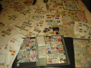 Huge WW stamp collection in large box pages, glassines, stockbooks