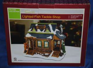 Christmas Village~Lighted Fish Tackle Shop~AC Moore~NEW