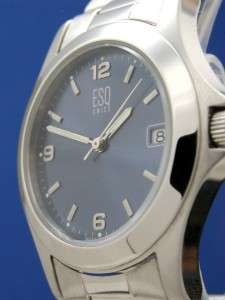Mans ESQ By Movado Swiss All Stainless Watch/Blue Dial  E5063 (54461