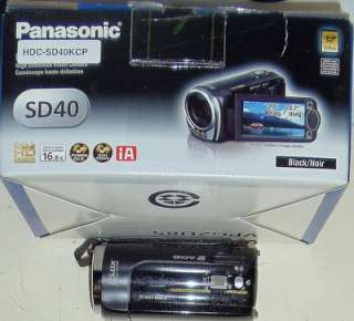 Panasonic HDC SD40 Camcorder Black, Missing Charger 885170040205