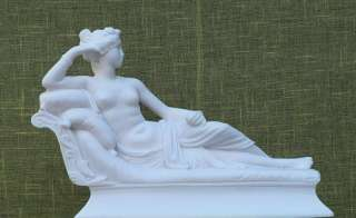 Greek New Alabaster Sculpture Paolina Borghese |