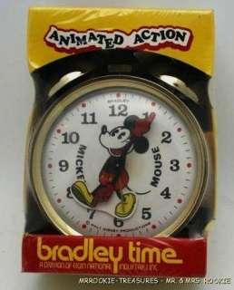 Bradley Disney Mickey Mouse ANIMATED Alarm Clock NEW