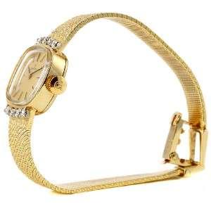 Vintage Ladies Omega 14K Yellow Gold Diamond Watch