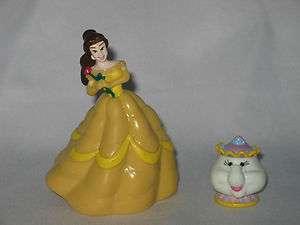 Disney Princess Beauty Belle Teapot Figures Lot