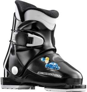 NEW NIB Rossignol R18 Ski Boots Black Kids Youth REAR ENTRY 17.5 US 11