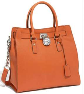 MICHAEL Michael Kors Hamilton Large North South Tote,Burnt Orange