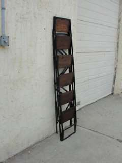 industrial chic metal wood folding ladder shelf display