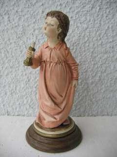figur mädchen mit kerze FLORENCE B.MERLI kunstharz