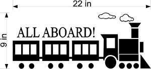 Nursery All Aboard Train Vinyl Wall Decal