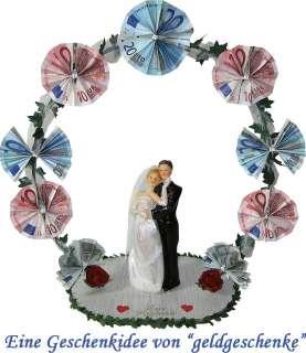 Geldgeschenke Hochzeit  GELDBOGEN  Brautpaar mit Kleid und Schleier