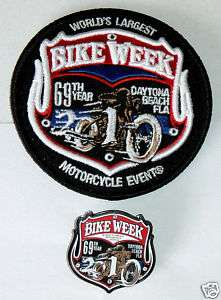 New 2010 Official Daytona Bike Week Cycle Patch & Pin