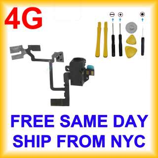 iPhone 4 Volume Flex Cable BLACK   4G Headphone Audio Jack Power