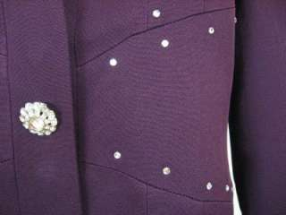 Studded Mother of Bride Special Occasion Church Skirt Suit M 8