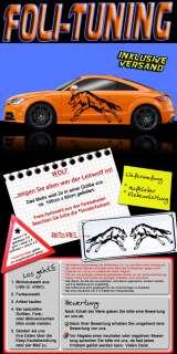 Auto Aufkleber Wolf Tattoo Sticker Tuning 2x 100cm lang