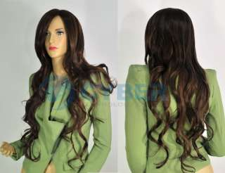 Vogue Brown long curly Wavy Sexy Ladys wig wigs hair