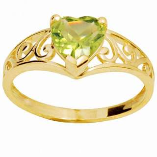 Antique Peridot Diamond 9k 9ct Solid Yellow Gold Ring
