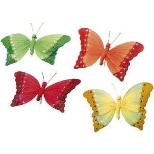 Stück Deko Schmetterlinge aus Textil Textil Schmetterling