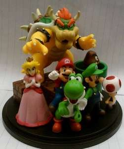 Set of Super Mario wii Luigi Peach yoshi figures