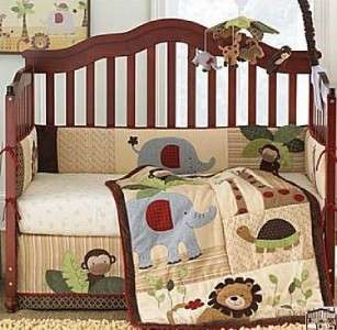 NEW Lambs and Ivy COCO TAILS 4Pc Baby Boy Crib Bedding Set Brown Tan