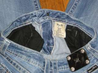 Womens Bootcut Distressed Angel Wings Rhinestone Denim Jeans Size 30