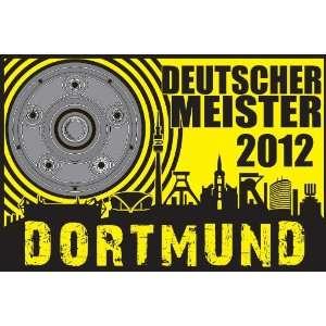 Hohlsaumfahne Dortmund Deutscher Meister 2012 Fussball Fahne Flagge