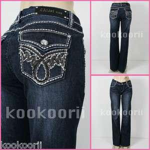 LA Idol* Women Jeans White Stitch BOOTCUT, Regular 3,13size