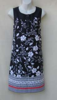 NWT NEW Ann Taylor LOFT Navy Print Dress Sz 6