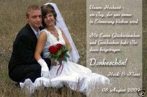 10 x FOTO DANKESKARTEN Hochzeit UNIKAT inkl Kuverts*