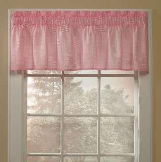 Sweet Pink & White Polka Dot Window Valance Treatment