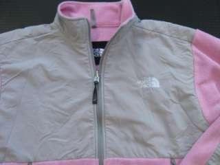 Womens NORTH FACE DENALI Jacket Pink/Gray Med Large Fleece M L