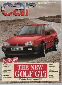 CAR magazine 5/88 feat. Astra GTE, Golf GTi, 2CV, TVR