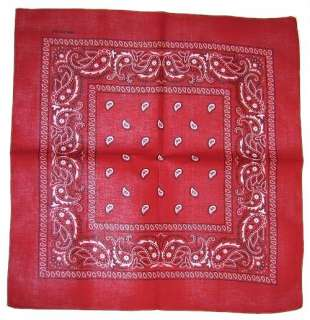 BANDANA HEAD SCARF NECK SCARF PAISLEY MANY COLOURS