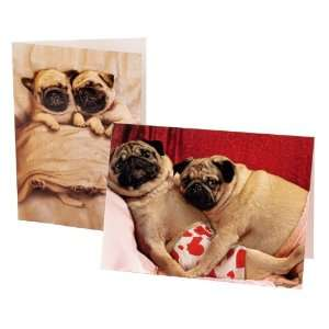 Avanti Valentine Assortment, Pugs and Kisses, 2 Pack