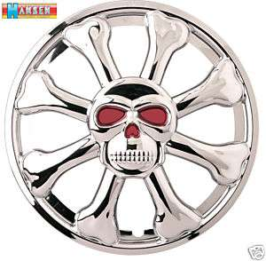 15 Totenkopf Radkappen US Car Hot Rod VW Audi Ford