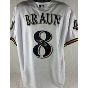 Brewers Ryan Braun Authentic Signed Home Jersey Jsa
