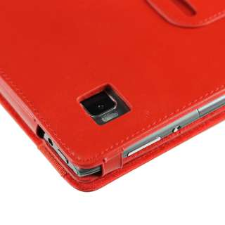 Red Leather Case Cover Holder for Acer Iconia Tab A500 A501 10.1