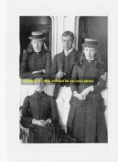 mm331  young King George V as Prince Of Wales & younger sisters