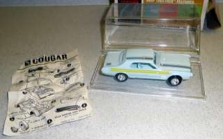 AMT Snap Together MERCURY COUGAR MINI TROPHY 1/43 Scale Model Kit 3509