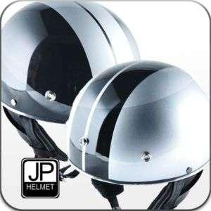 JP jet black helmet Motorcycle scooter cafe racer M07