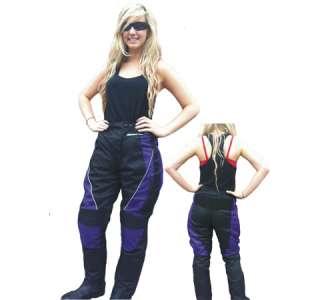 NEW JAZZ LADYS WINTER MOTORCYCLE BLACK PANTS SIZE 8