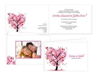 Personalised Wedding Day Evening Invitations   Sample