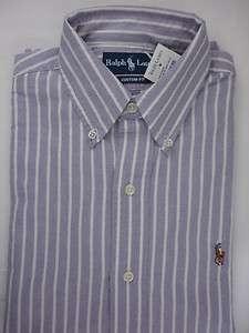 Polo Ralph Lauren Mens Button Down Sport Shirt Custom Fit Oxford