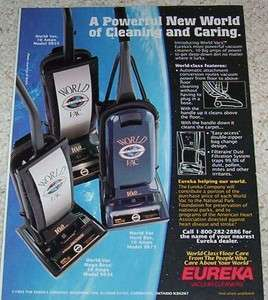 1993 advertising   Eureka World Vacs vacuum cleaners NASA Outer Space