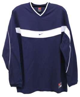 Nike Mens Unified Navy Blue & White Longsleeve Shirt