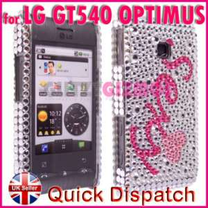 BLING DIAMOND GLITTER CASE COVER FOR LG GT540 OPTIMUS