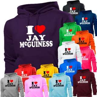LOVE HEART JAY MCGUINESS THE WANTED HOODIE HOODY WOMEN BOYS GIRLS